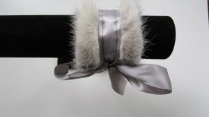 Petit bracelet de vison gris